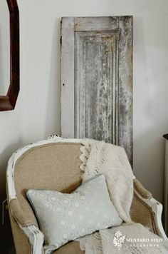 use old doors/shutters all over the house for textural interest