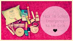 A wonderful idea for teen girls keeping an emergancy kit with them in their locker!