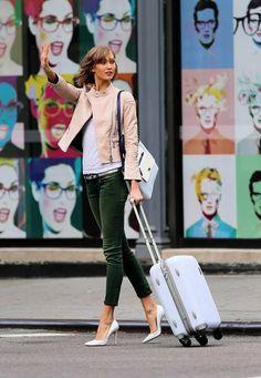 Karlie Kloss travel style