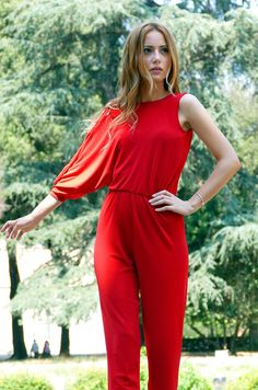 e2237047fa3 Jumpsuit Loose jumpsuit Summer Jumpsuit Red jumpsuit Summer Jumpsuit