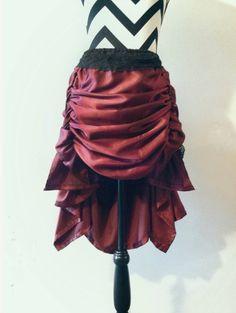 Bustle skirt front
