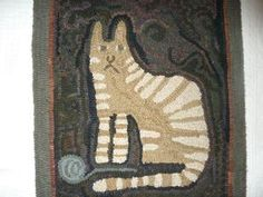 Hand Hooked Rugs :: Snitty Cat :: Hooked Rugs