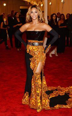 Beyonce, MET Gala 2013 in Givenchy high waist skirt with structured corset. Very lovely, Bey; and ya'll know I don't do the BeyHype...but this piece is supa-dope.