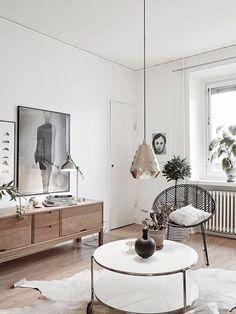Décor do dia: sala exibe elegância escandinava