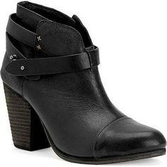 Nikki Reed wearing Rag & Bone Harrow Boots in Black.