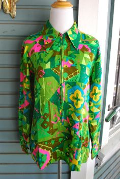 Vintage 1970's psychedelic polyester by CerealVintageThrift, $13.00