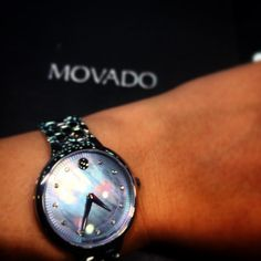‪#‎WatchWednesday‬  This week we are featuring the new Ladies Movado Trevi. Just look at that beautiful blue mother of pearl dial with diamond indicators. Simple and elegant.
