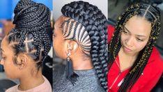 2020 most beautiful and Eye popping Braided Hairstyles All Back Ghana Weaving, Latest Ghana Weaving Styles, Braids For Black Women, Black Braids, Protective Hairstyles For Natural Hair, Weave Hairstyles, Most Beautiful, Dreadlocks, Kid