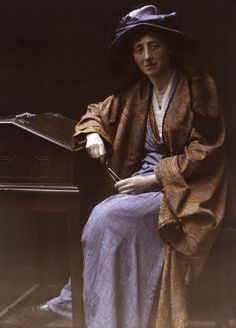 Olive Edis by Katharine Legat (née Edis) autochrome, 1900s