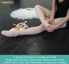 simple safe foot stretch for ballet dancer