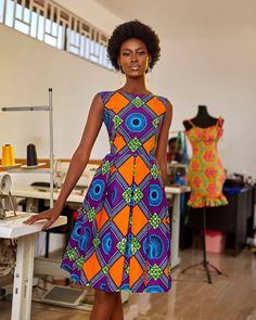 """Today we bring to you the best of Ankara. We bring to you Outstanding Ankara Styles to Copy."""" These Ankara styles are much more perfect. It's designs and styles are unique. Ankara Short Gown Dresses, Ankara Short Gown Styles, Short Gowns, African Print Dresses, African Fashion Dresses, African Dress, African Prints, African Fabric, Work Dresses"""