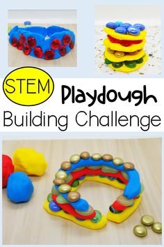 Use playdough for a fun STEM building challenge that kids will love! USe simple materials to challenge children to build, create and problem solve with these unique playdough activities for kids. Try it today! #playdoughactivities #playdoughactivitiesforkids #playdoughactivitiespreschool Preschool Activities At Home, Playdough Activities, Science Activities, Summer Activities, Stem Projects For Kids, Stem Challenges, Learning Numbers, Toddler Fun, Kindergarten Classroom