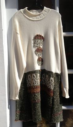 Ecofriendly upcycled OOAK  Sweater Dress by adelightdesign on Etsy, $35.00