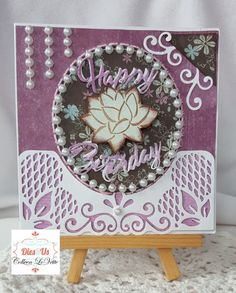 Dies R Us: Pretty in lavender birthday card