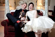 Clare and Neil�s Black and Orange Themed Wedding with Ear to Ear Smiles!