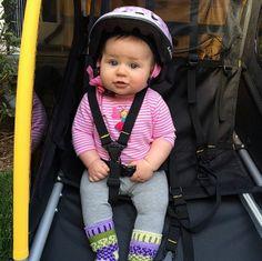 First Bike Ride! #burley #bike #kids #bee