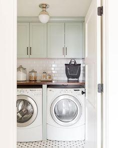 Northridge Remodel: Bedrooms, Mudroom, Laundry & Nook Tour the bedroom spaces of our Northridge Remodel! Laundry Nook, Mudroom Laundry Room, Laundry Room Remodel, Laundry Room Organization, Laundry Room Design, Laundry In Bathroom, Bath Laundry Combo, Ikea Laundry Room Cabinets, Grey Laundry Rooms
