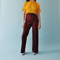 Vintage Levis Trousers 1970s Levis Pants High Waisted