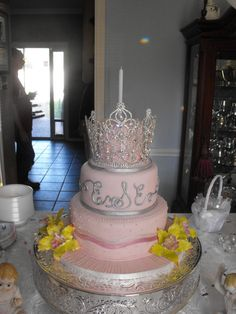 This was our Granddaughter's first birthday Princess Cake!