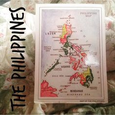 2016-03-24 #Postcard from the #Philippines (PH-95316) via #postcrossing #map #illustration