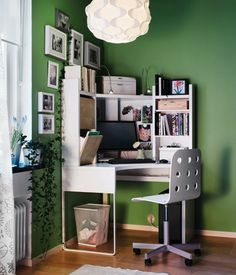 You have to be create that when you started to create your home office. Here are a very creative ideas for small home office design Ikea Workspace, Workspace Design, Home Office Design, Home Office Decor, House Design, Home Decor, Office Ideas, Small Workspace, Desk Space