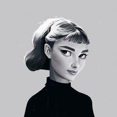 Audrey Hepburn by Janice Sung