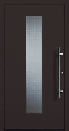 Contemporary and modern entry doors by Groke. A superior alternative to fiberglass, steel or wood doors. Modern Entry Door, Modern Exterior Doors, Entry Doors, Entrance, Modern Windows And Doors, Modern Driveway, Ios Wallpapers, Iron Doors, Welding Projects