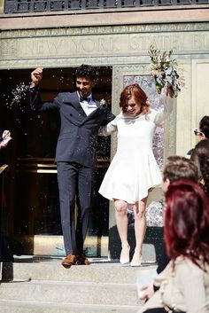 These Gorgeous City Hall Weddings Are - Hochzeitskleid Wedding Bells, Wedding Bride, Wedding Dresses, Spring City, City Hall Wedding, Practical Wedding, Nontraditional Wedding, Elopement Inspiration, Real Couples