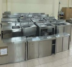 Stainless Steel Kitchen Sink Cabinet | Stainless Steel Sink Stainless Steel  Table With Cabinet