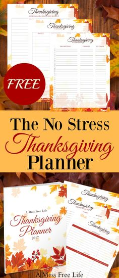 The No Stress Thanksgiving Planner | Best Planner for Turkey Day