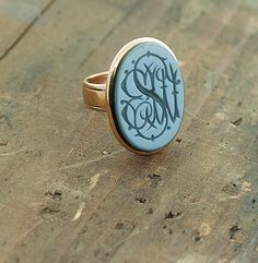 Antique Wax Seal Monogrammed Ring