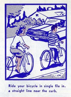An Illustrated Vintage Bicycle Safety Manual circa 1969 – Brain Pickings