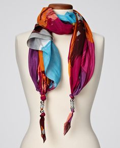 Ann Taylor - AT Scarves & Accessories - Hypnotic Strokes Beaded Scarf ($50-100) - Svpply