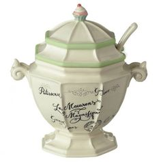 Grasslands Road Patisserie - Tureen with Ladle - 463869 Honey Candy, Jelly Jars, Home Decor Inspiration, Vintage Kitchen, Just Desserts, Macarons, Serving Bowls, Ceramics, Gifts