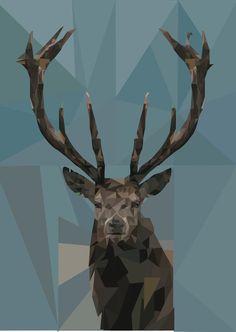Geometric Deer von LePetitAgneauArt auf Etsy