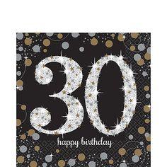 "30th Celebration Chevron Stripes Adult Birthday Party 9/"" Square Dinner Plates"