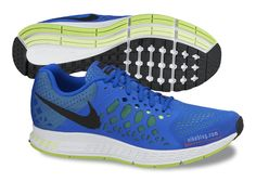 Nike Zoom Pegasus 31- Hyper Cobalt, Black, White, and Volt. Our Track Shoes! So Sweet!