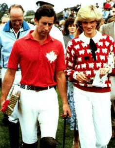Prince Charles and Princess Diana at a Polo Match