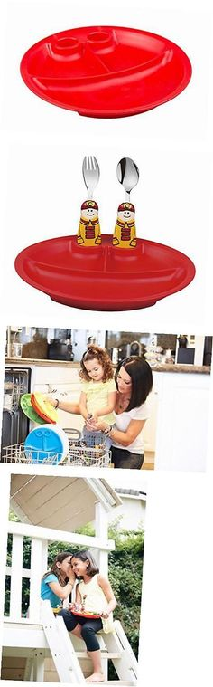 Eating and Drinking 115715: Duo Collection Eat And Play 3-Piece Dinnerware Set, (Red Plate, Fireman Spoon, And -> BUY IT NOW ONLY: $31.95 on eBay!