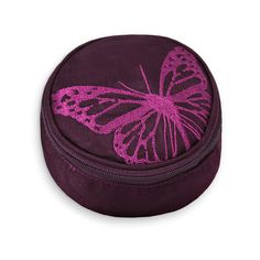 Travel Jewelry Case - Embroidered Butterfly