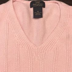 This Brooks Brothers 346 sweater is in excellent used condition ! It is  made of a soft to the touch supima cotton knit ! It is pink with white trim. 222596c5d