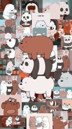 we bare bears Cute Panda Wallpaper, Cartoon Wallpaper Iphone, Disney Phone Wallpaper, Iphone Wallpaper Tumblr Aesthetic, Bear Wallpaper, Kawaii Wallpaper, Cute Wallpaper Backgrounds, Galaxy Wallpaper, Aesthetic Wallpapers