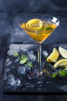 #Brandy #cocktail - #Collison's #Cosmapolitan with #rooibostea #ginger #lemon and #honey