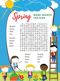 Celebrate the spring weather with a fun and free printable spring word search for kids. Print it to do together as a family! Origami Jewelry Box, Spring Word Search, Spring Words, Ribbon Organization, Spring Crafts For Kids, Craft Free, Coloring Pages For Kids, Kids Coloring, Spring Weather
