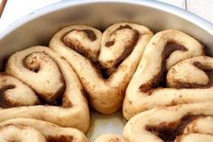 Heart Cinnamon Rolls Recipe - They are easy to make and they always turn out. The best part is the fact that they are overnight cinnamon rolls, meaning that you don't have to do any work on the morning of! You just bring them to room temperature and throw them in the oven for 30 minutes.