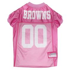 Pets First Cleveland Browns NFL Pink Mesh Jersey 2253aa55b