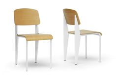 Baxton Studio Langsam Modern Dining Chair with White Frame (Set of 2) | Wholesale Interiors