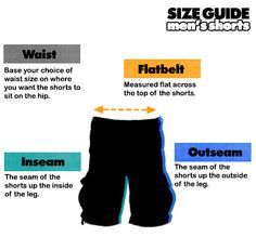 Image result for what is outseam on shorts