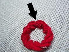 Stitch Play: Cast-On Stitch Flower Tutorial via NeedleNThread