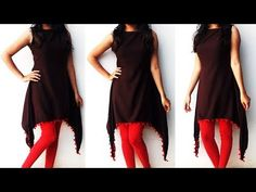 DIY Designer Two Tail Kurti Cutting And Stitching Full Tutorial Shrug For Dresses, Sleeves Designs For Dresses, Dress Neck Designs, Saree Blouse Designs, Fashion Show Dresses, Indian Fashion Dresses, Simple Kurti Designs, Kurta Designs Women, Kurta Neck Design